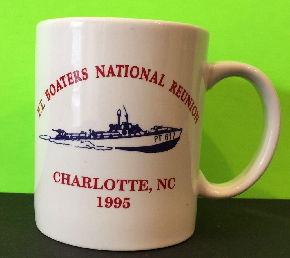 Vintage 1995 P T Boaters National Reunion Charlotte Nc Coffee Mug Ebay