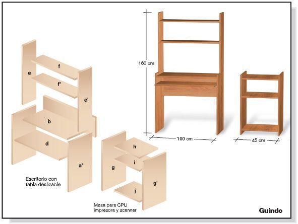 Hace todo con madera madera planos y bricolaje madera for Planos muebles melamina
