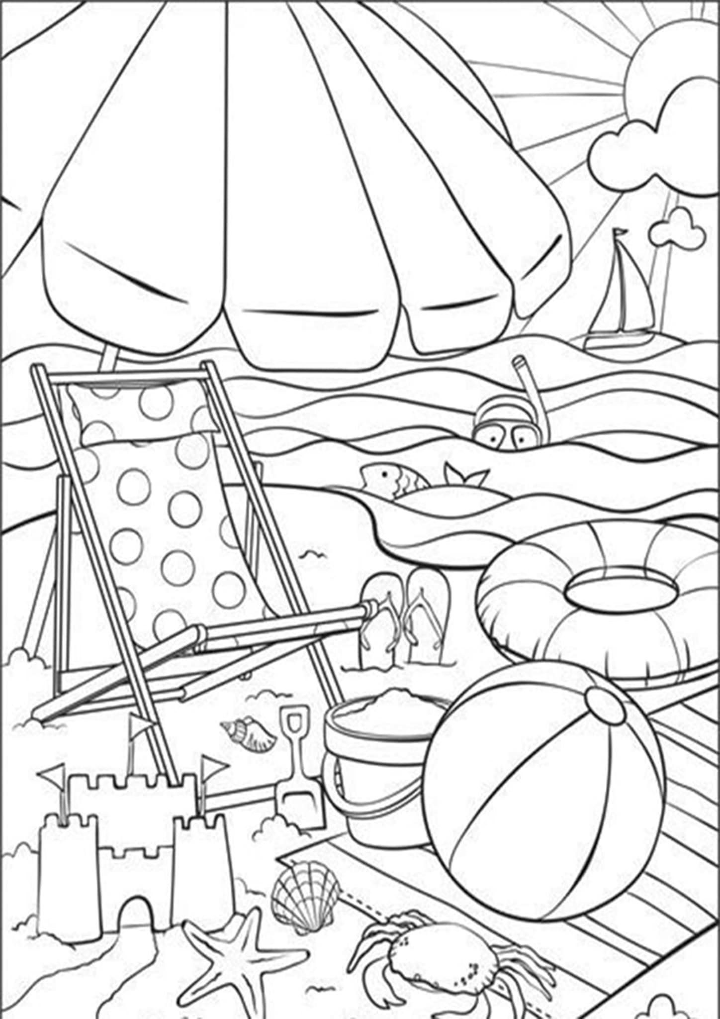 Free Easy To Print Summer Coloring Pages Summer Coloring Pages Beach Coloring Pages Coloring Pages