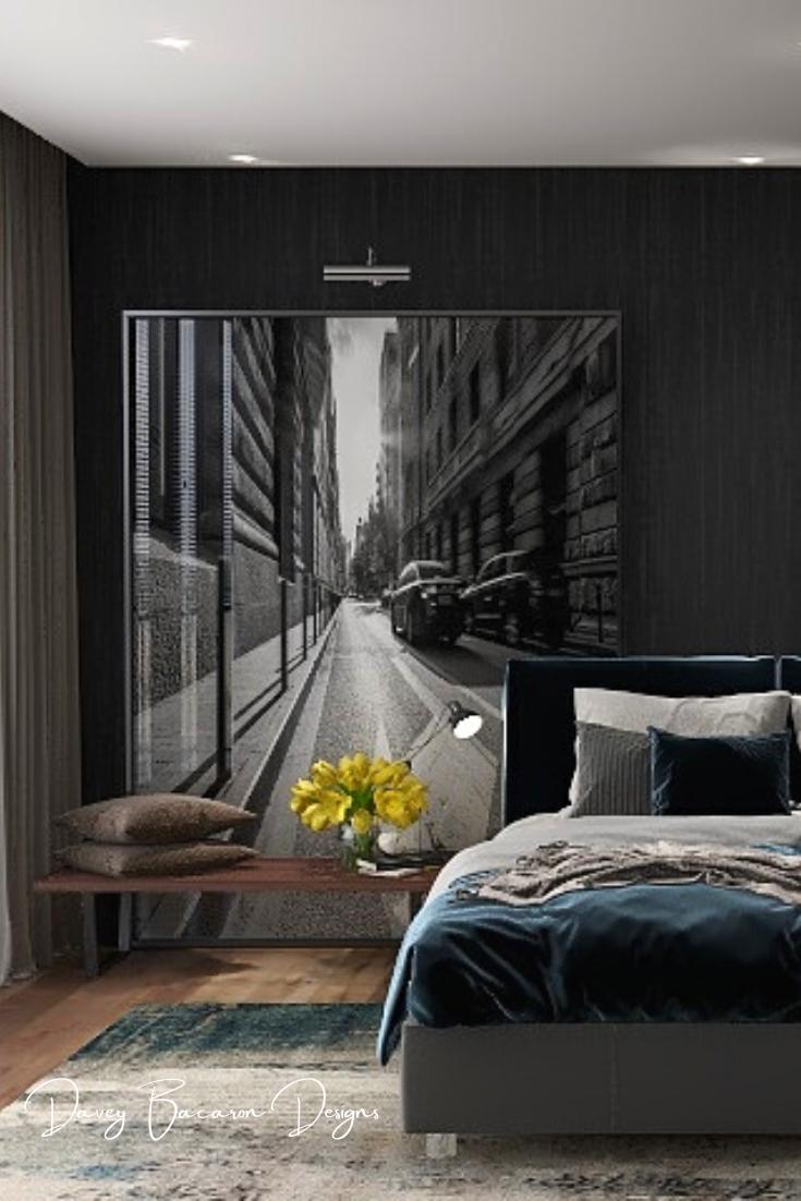 Bedroom Ideas Masculine Interior Design Inspiration By Davey Bacaron Of Masculine Interior Design Online Interior Design Services Interior Design Inspiration