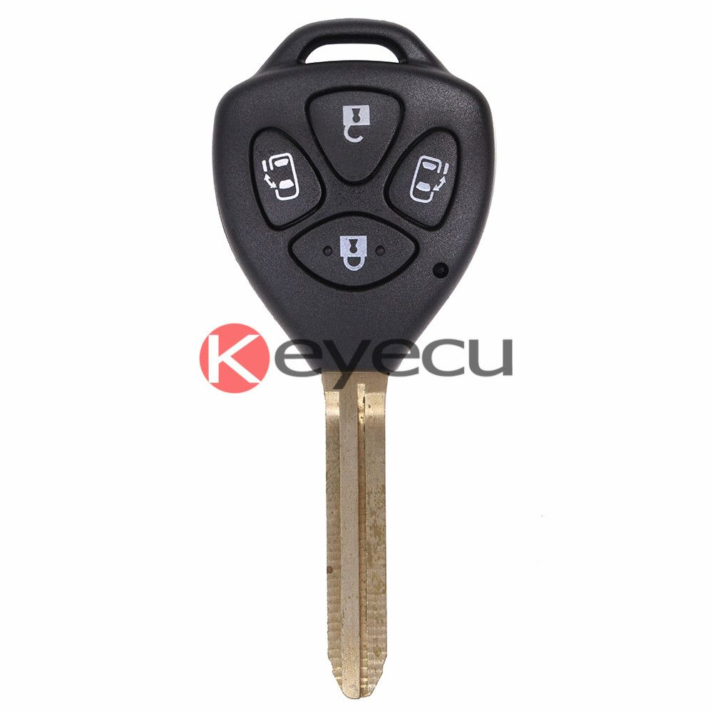 Replacement Remote Key Fob 4 Button 314 3mhz With 4d67 Chip For