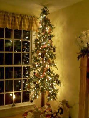 Skinny Tree Skinny Christmas Tree Primitive Christmas Tree Pencil Christmas Tree