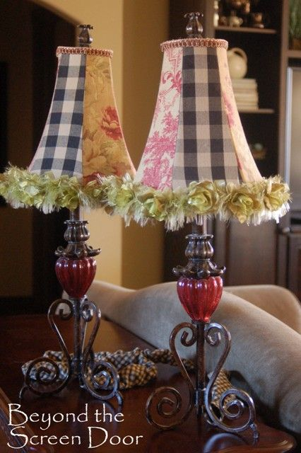 Fabric Covered Lampshades Sonya Hamilton Designs French Country Decorating Lampshades Lamp Shades
