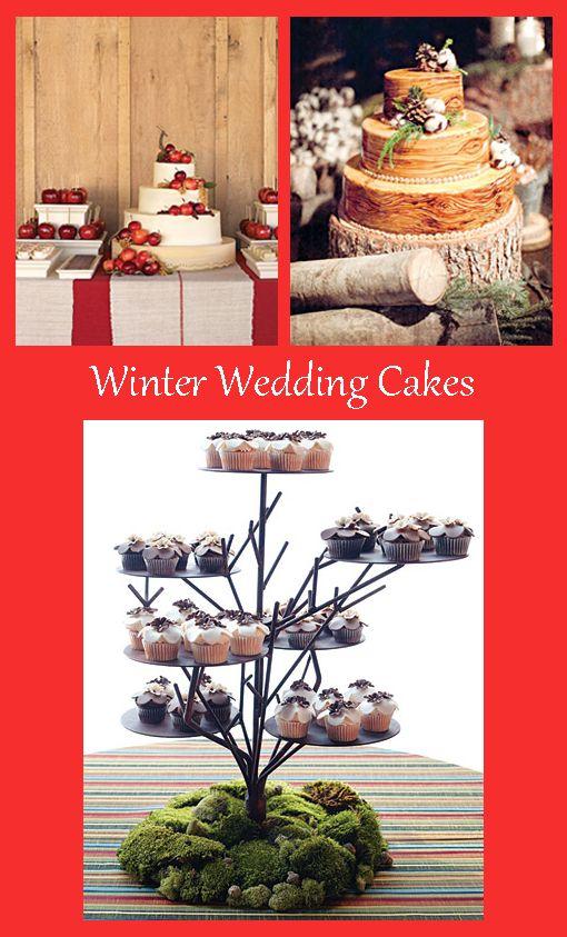 Tartas para bodas en invierno. http://cocktaildemariposas.com/2012/11/20/bodas-en-invierno-ideas-para-que-el-frio-sea-tu-aliado/