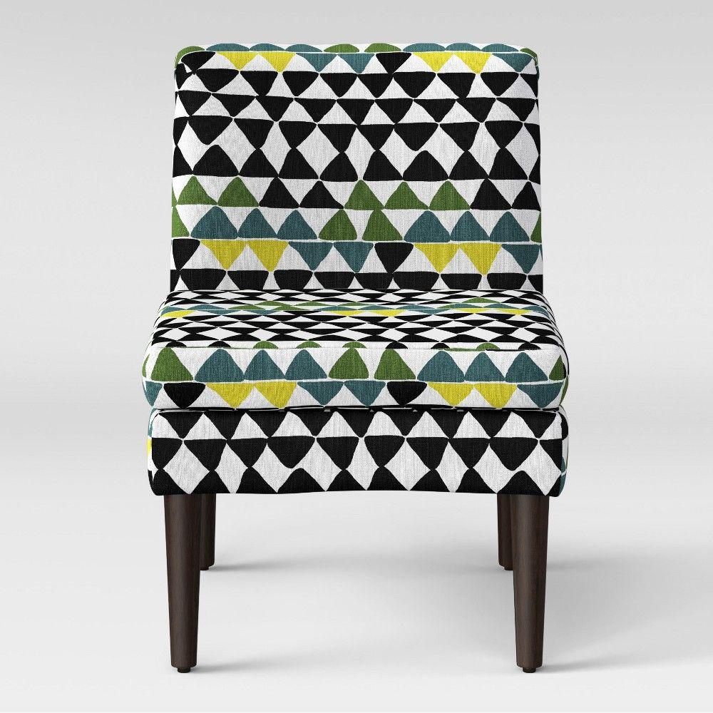 Winnetka Modern Slipper Chair Black And Green Project 62