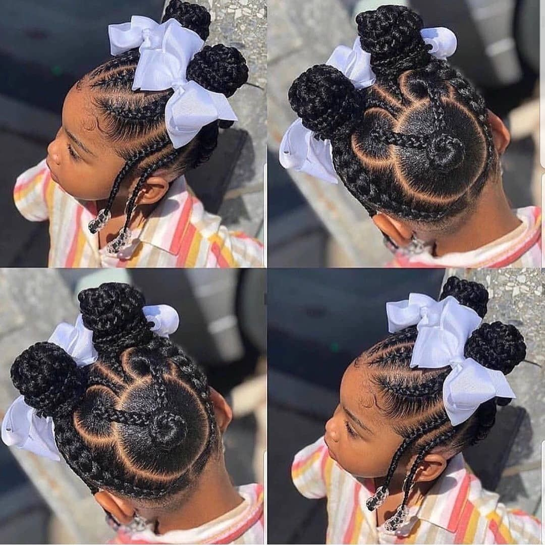 KIDS BRAIDS HAIRSTYLES @destinedcreationz_ FOLLOW @kissegirl