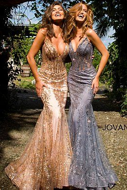 3675 spaghetti straps embellished dress in 2020  prom