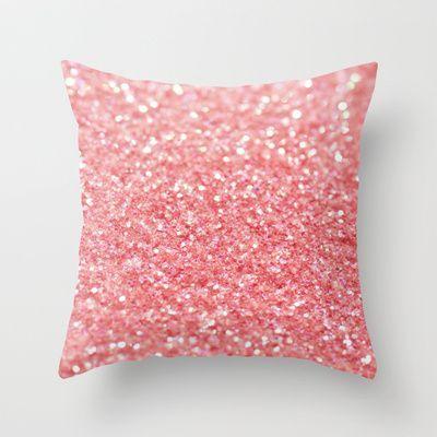 Glitter Pillow Pink Throw Pillows Pink Pillows Throw