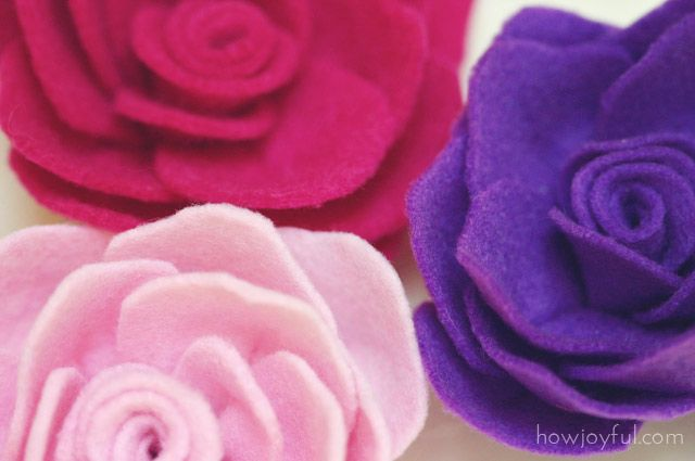 Felt rose tutorial and pattern