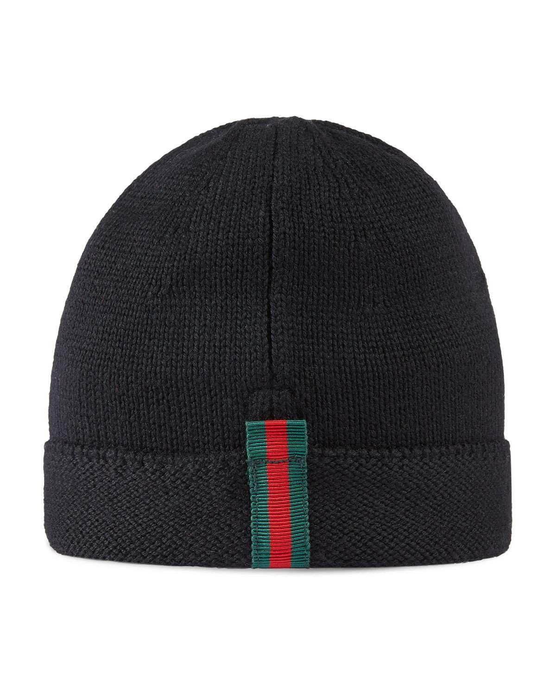 105f2d7d7ef Kids  Knit Web Trim Beanie Hat