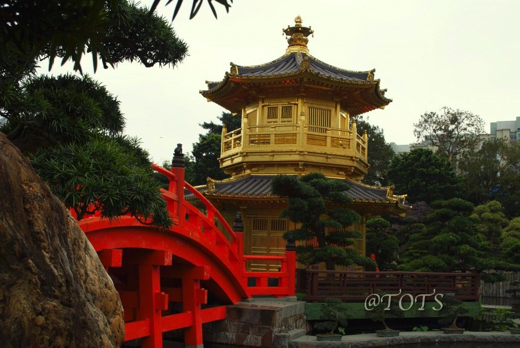 Pavilion of Absolute Perfection and the Zi-Wu Bridge, The Nan Lian - chinesischer garten brucke