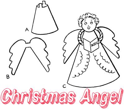 Christmas Angels Craft | vanoce navody | Pinterest | Craft ...