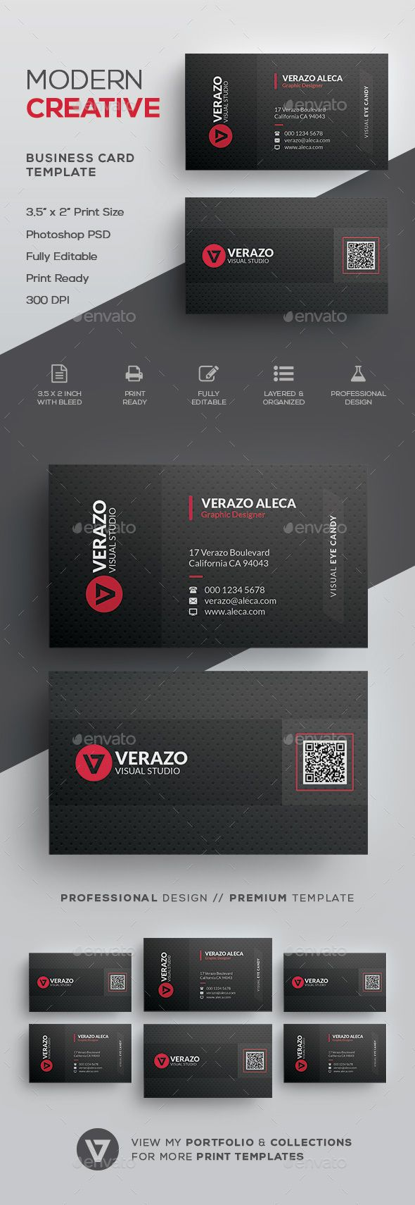 Qr code business card qr codes card templates and business cards qr code business card by verazo need more high quality business card view my business colourmoves