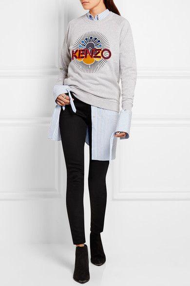 KENZO | Embroidered cotton sweatshirt | NET-A-PORTER.COM