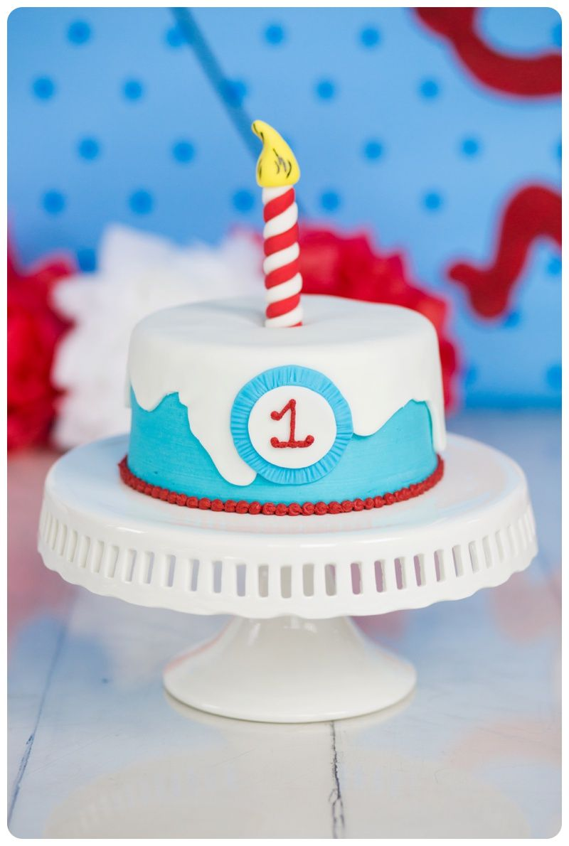 Dr Seuss Birthday Cat In The Hat Birthday Dr Seuss Cake Smash