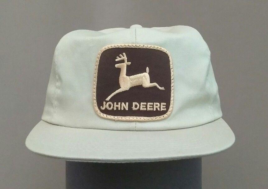 e567514b7b6 Vintage 1970 s john deere trucker farmer snap back hat khaki ...
