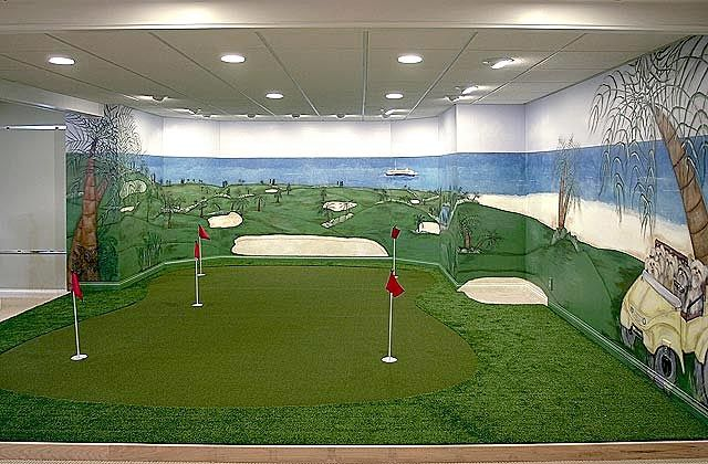 A Little Something For The Husband Indoor Putting Green Golf