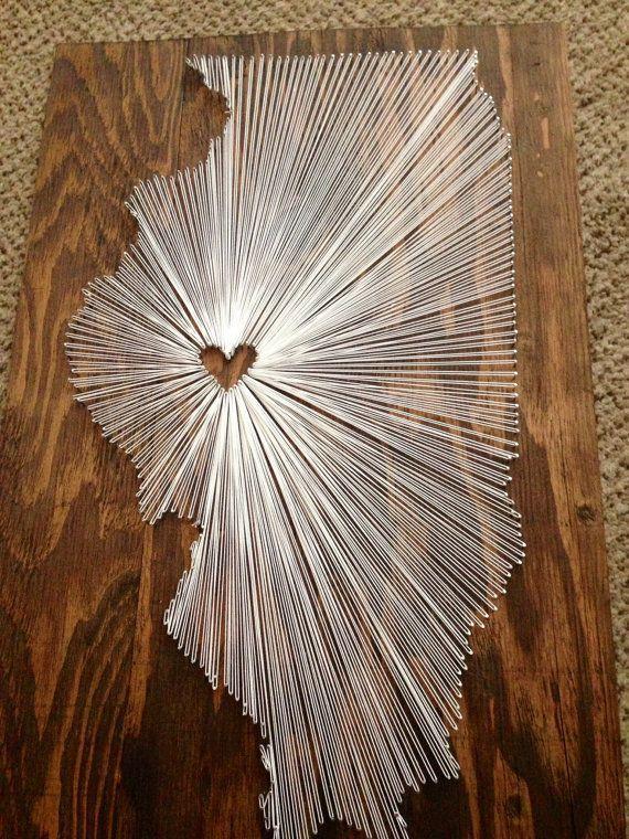 State String Art - Illinois - Wandbehang - Inneneinrichtungen #stringart