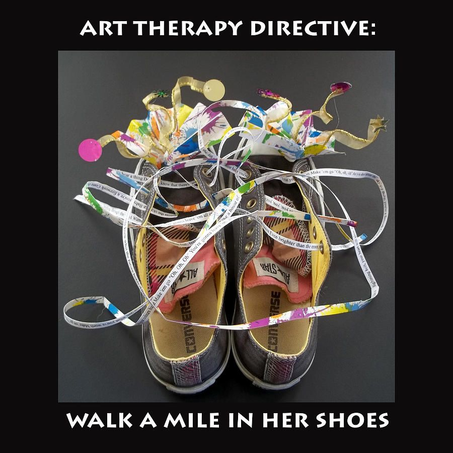Walk A Mile In Her Shoes By Anne Cameron Cutri Art Therapy