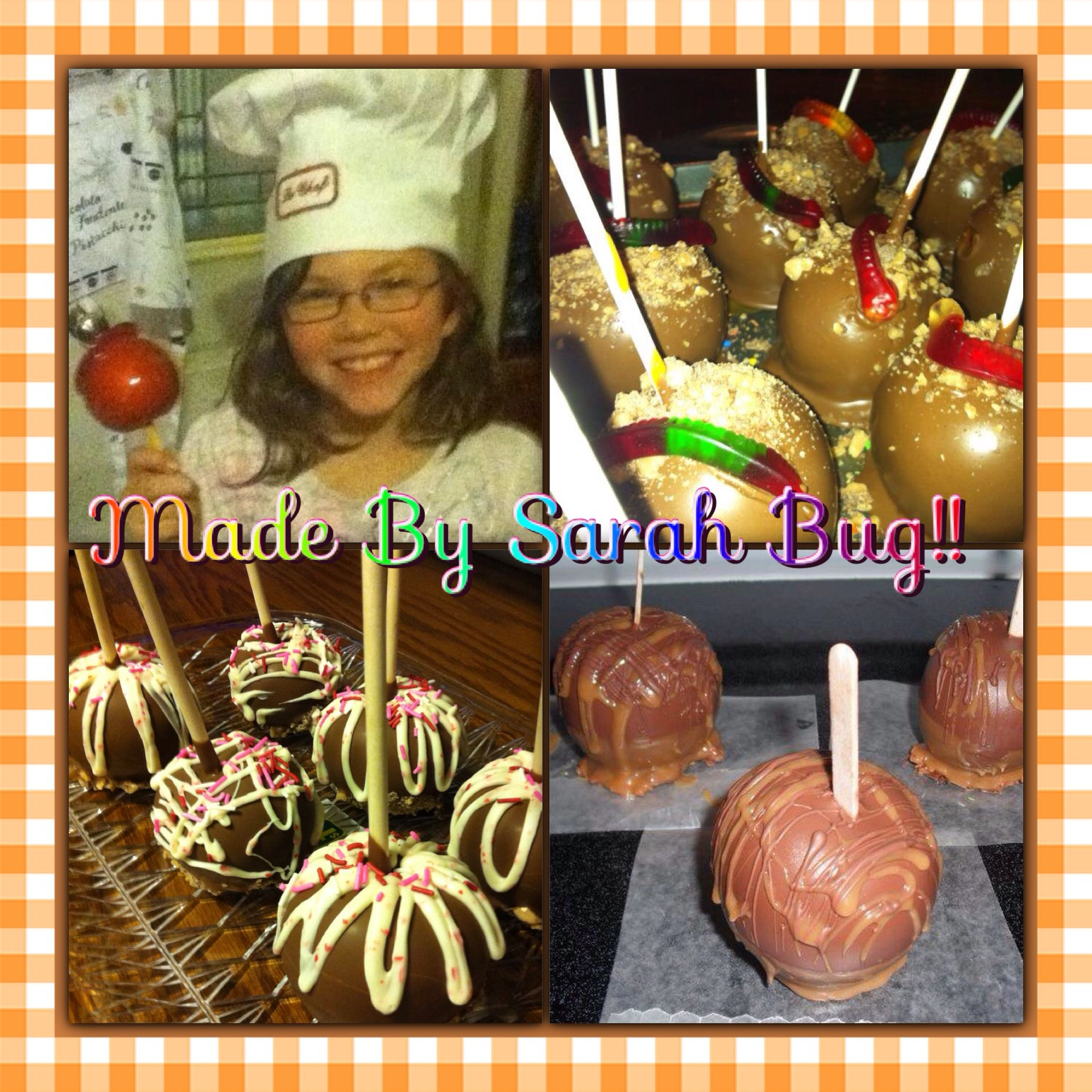 Candy, cameral, chocolate apples!!! Yummy!!!