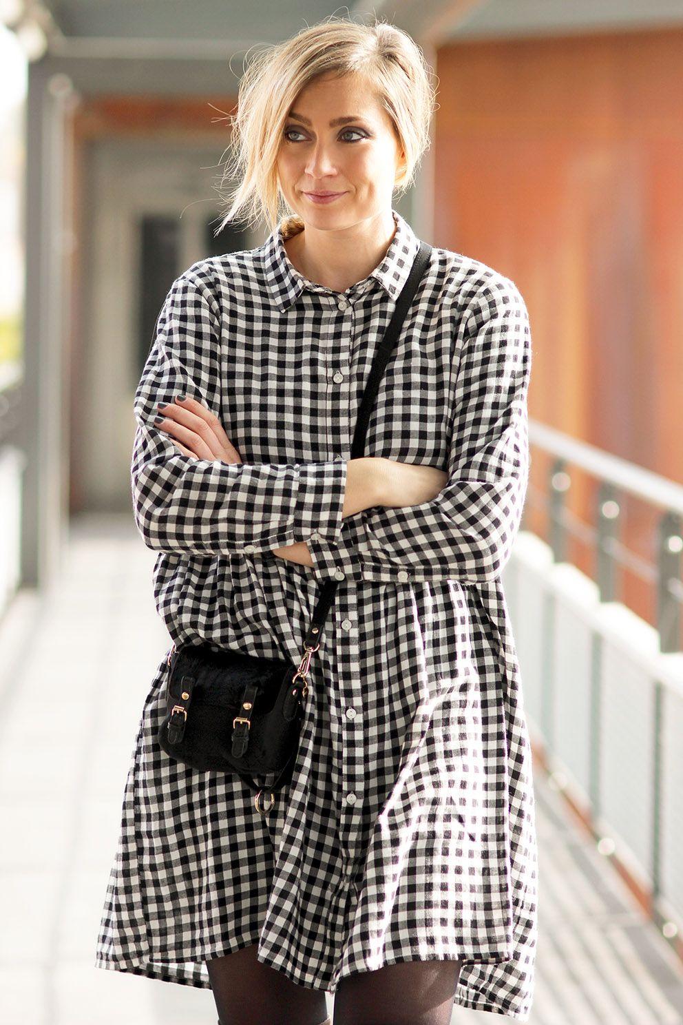 Look robe vichy @monkiworld Blog mode Lyon Artlex fashion