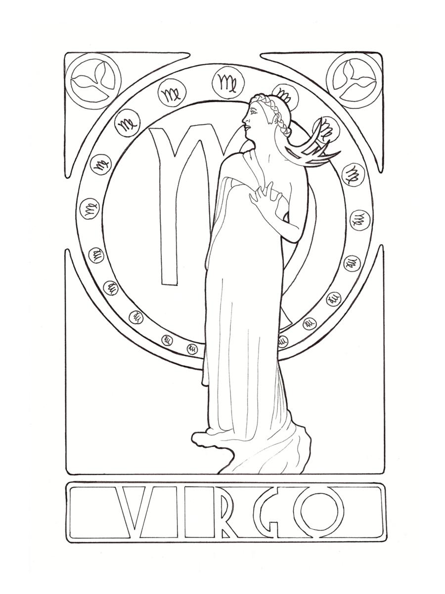 Zodiac Virgo by ElineK.deviantart.com on @DeviantArt | COLOURING ...