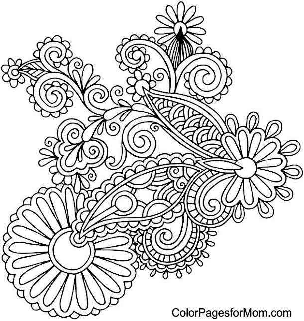 Free Adult Paisley Coloring Pages