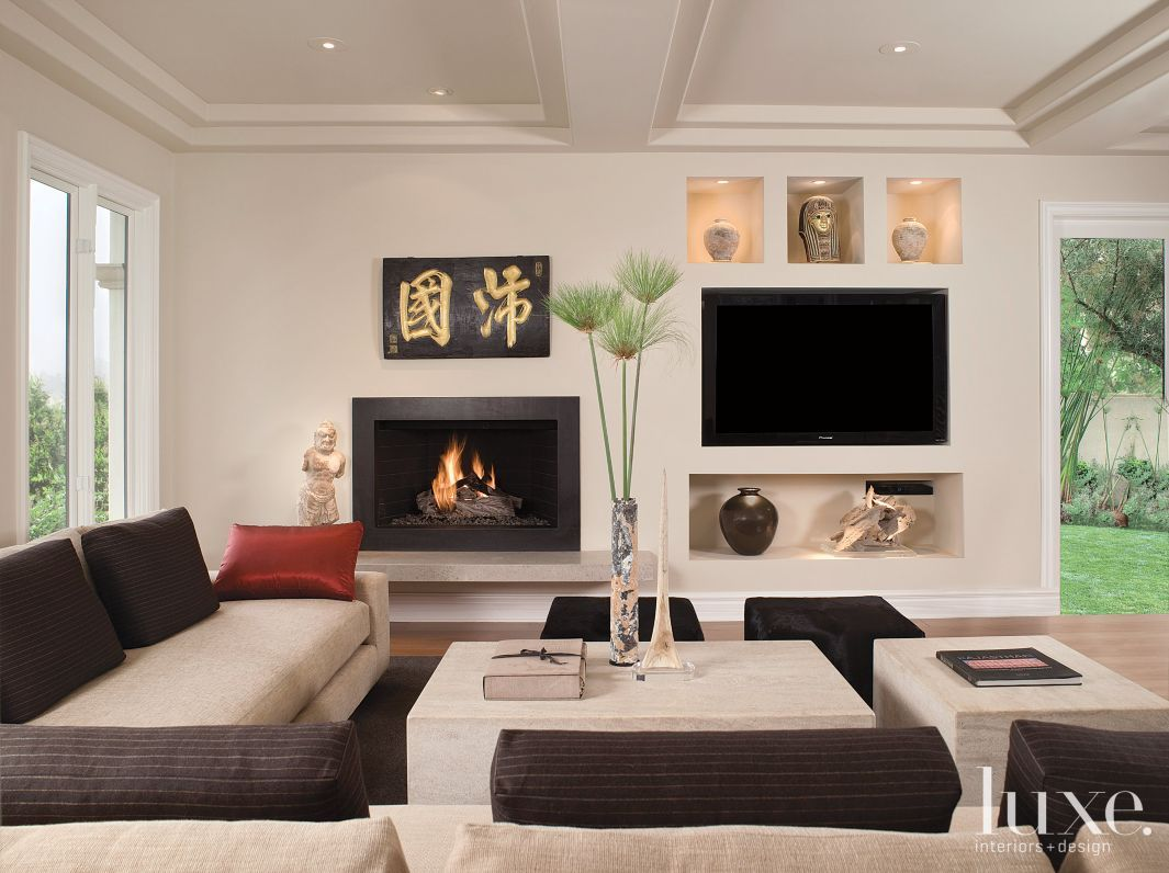 24 of our Favorite Living Room Fireplaces | LuxeSource | Luxe Magazine - The Luxury Home Redefined