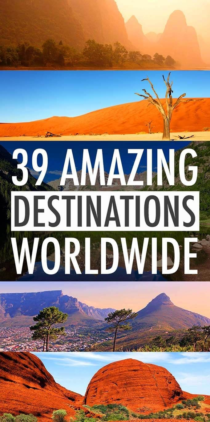Amazing Destinations Worldwide Favorite Places From Years - The 30 most beautiful travel destinations on earth