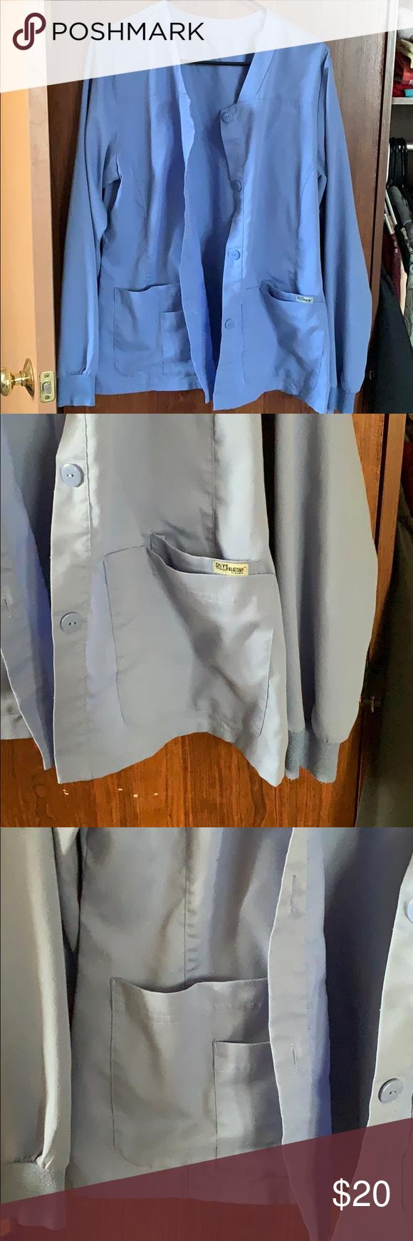 Grey anatomy ceil blue scrub jacket | Scrub jackets, Blue ...