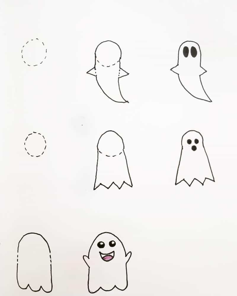 30 Easy Halloween Doodles For Your Bullet Journal Halloween Doodle Bullet Journal Halloween Easy Halloween Drawings