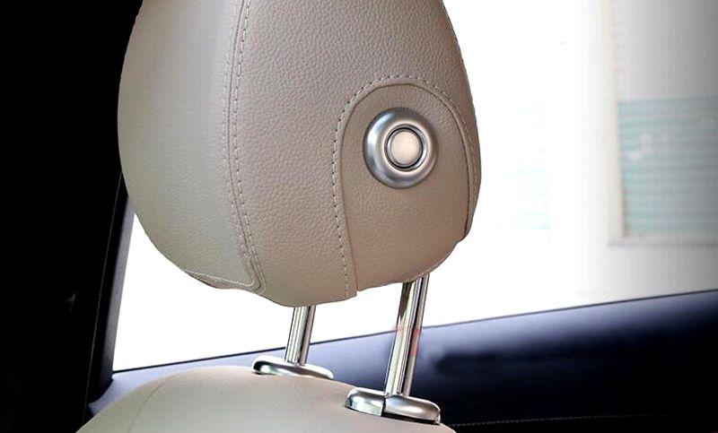 Seat Headrest Adjust Cover Trim 4pcs For Mercedes Benz GLC Class X205 2015-2016