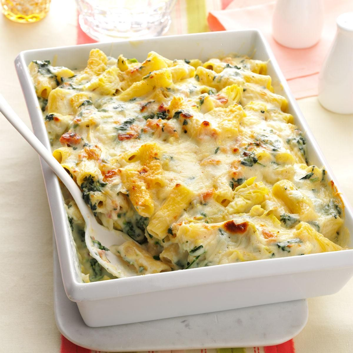 Creamy Spinach & Rigatoni Bake Recipe -Macaroni and cheese is one of ...