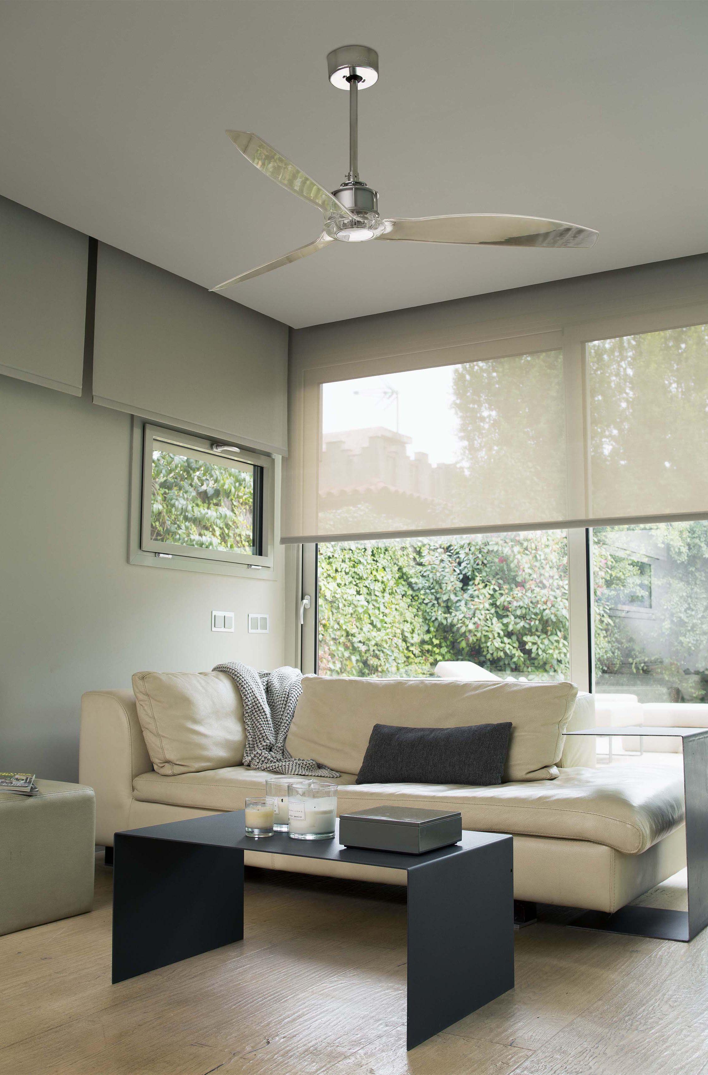 Faro JUST FAN Chrome ceiling fan with DC motor