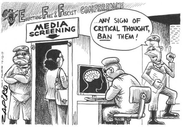 Seeing Red #EFF #JuliusMalema - Zapiro Dec 2019