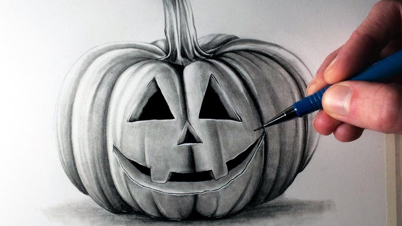 How To Draw A Pumpkin Pumpkin Drawing Realistic Pumpkins Drawings