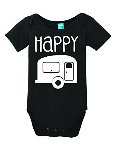 9abb5f236 Learn more about Happy Camper Onesie Funny Bodysuit Baby Romper Black 6-12  Month Camping