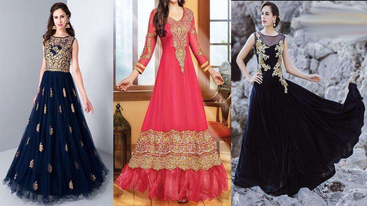 Latest Indian Gown Designs For Reception // Engagement | Latest ...