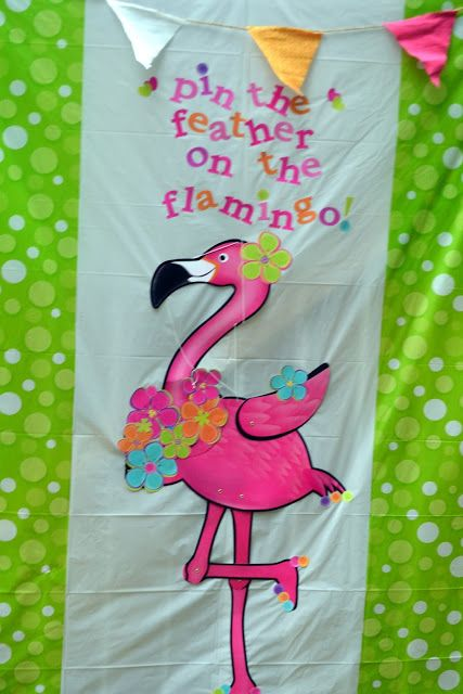 Fairy game, pin the feather on the flamingo, Artsy Fartsy Shopaholic: Fairy Flamingo Birthday Party: Footloose and Fancy Free, Caroline is turning Three!