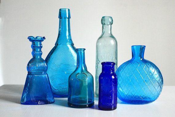 Une belle bouteille Neck Vase en verre