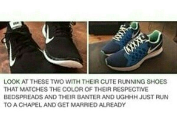 Two pairs of shoes just gave me feels.