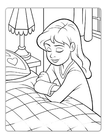 Girl Praying - one of several drawings from the Friend Magazine at ...