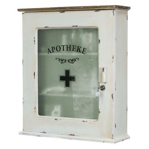 medizinschrank, abschließbar, used-look vorderansicht | wohnideen, Wohnideen design