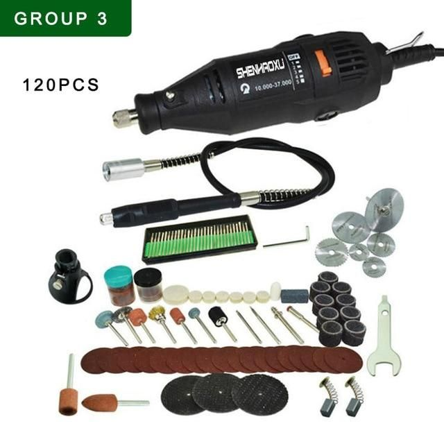 Photo of 110V~230V Home Diy Mini Electric Drill Engraver Grinder Dremel Rotary Tool With 192pcs Accessories Drilling Machine Power Tool – PSD-003-SET3 / us