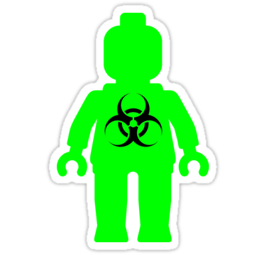 Minifig With Radioactive Symbol Sticker People Stickers And Symbols