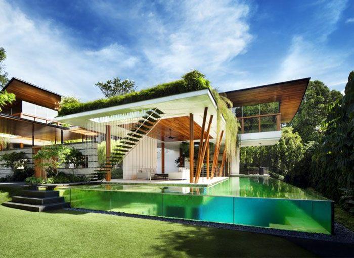 20 piscinas modernas bonitas e elegantes para resid ncias - Residencia de manila swimming pool ...