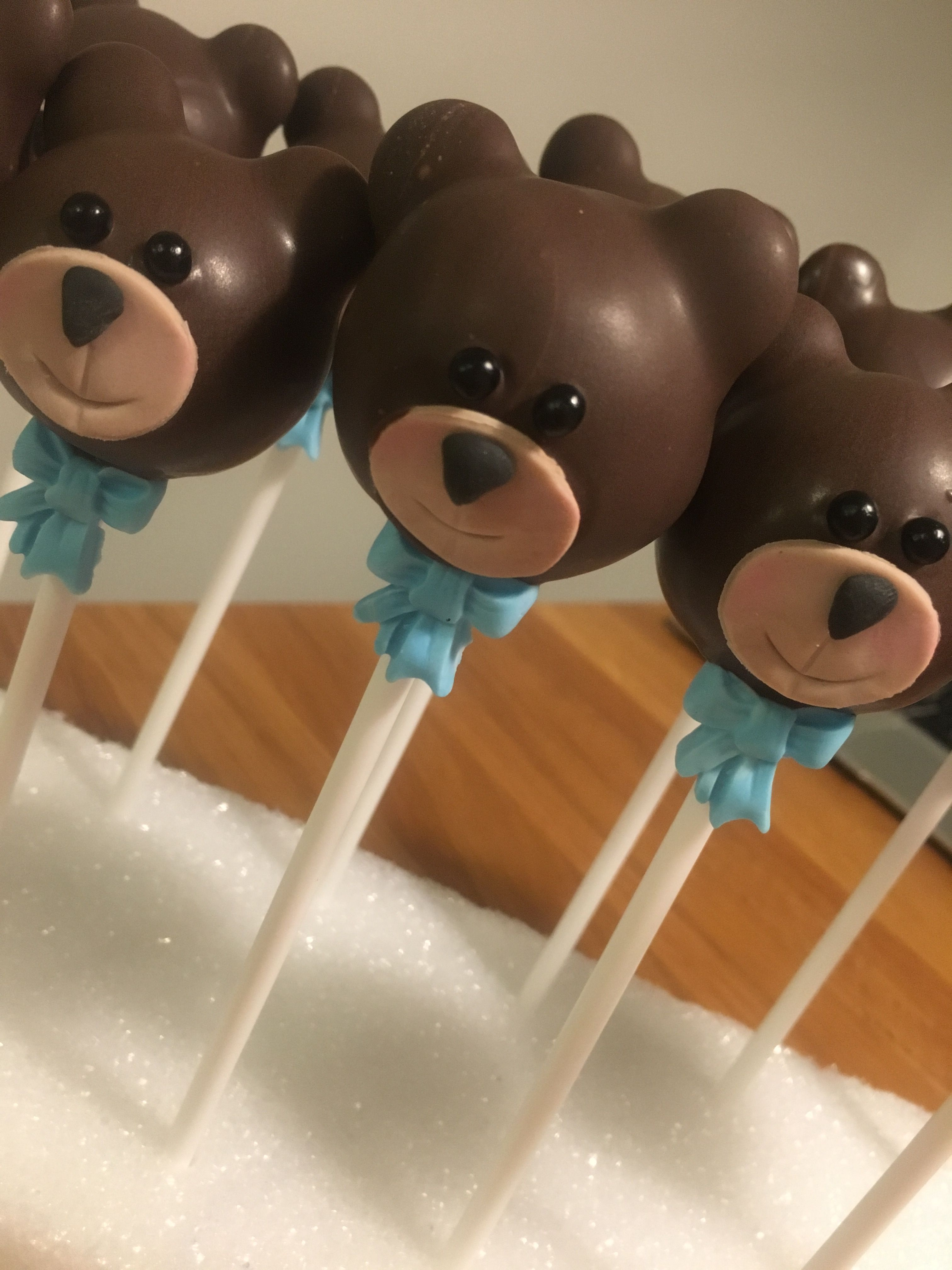 Teddy Bear Cake Pops For A Baby Shower