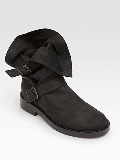 ANN DEMEULEMEESTER Buckle Boots cyMNb25a