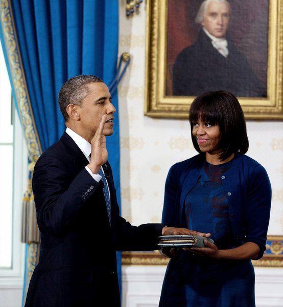20.01.13: El primer día de juramento. Por caer en un domingo, la ceremonia fue privada y se repitió públicamente el lunes 21.