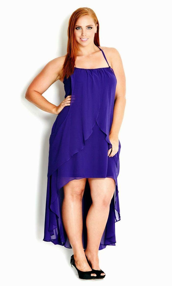 Moda Estilo Y Distinción Para Gorditas: Vestidos de Noche Azules ...